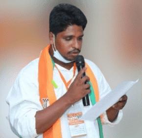 Gollakati Suryanarayana (BJYM) | BJYM Mandal President | Party Activist | ABVP | RSS | BJP | Mandal Executive Member | theLeadersPage
